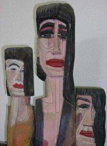 hout sculptuur 1988 Chris van Voorst
