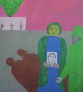 soldaat met vrouw